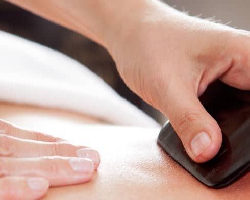 Guasha therapie bij powerful stones